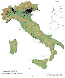Os Volpato estão presente, na ITALIA, em mais de 450 comunidades