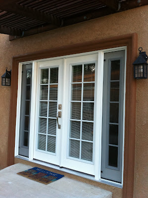 Thb construction back door replaced with double french for Back door with window that opens
