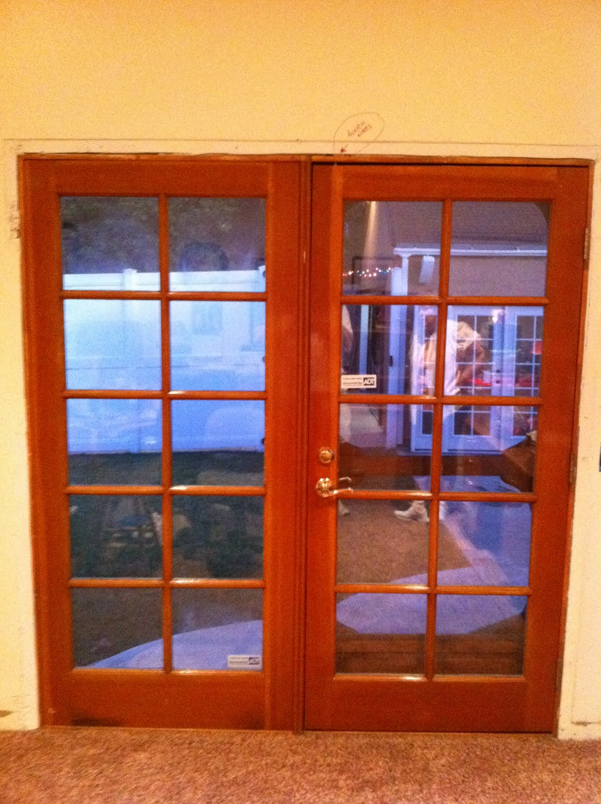 Thb construction back door replaced with double french for Double doors for back door