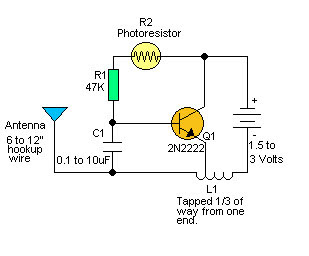 Light Sensing RF Transmitter