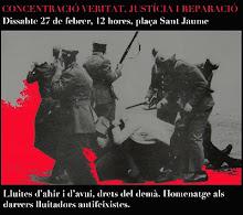 VUITENA CONCENTRACIÓ VERITAT JUSTÍCIA I REPARACIÓ. 27/02/2010