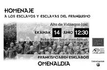 HOMENAJE A LOS ESCLAV@S DEL FRANQUISMO EN NAFARROA