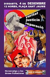 QUINZENA CONCENTRACIÓ VERITAT, JUSTÍCIA I REPARACIÓ. DONES LLUITADORES, DONES RESISTENTS.