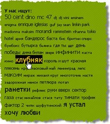 MP3shki-облако тегов