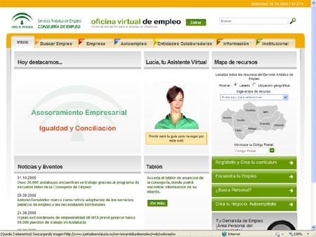 Jarajoven nueva web del servicio andaluz de empleo for Oficina virtual empleo