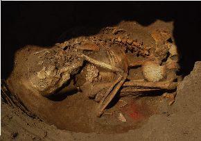 Una de las tumbas encontradas en el complejo arqueológico Ventarrón en Lambayeque