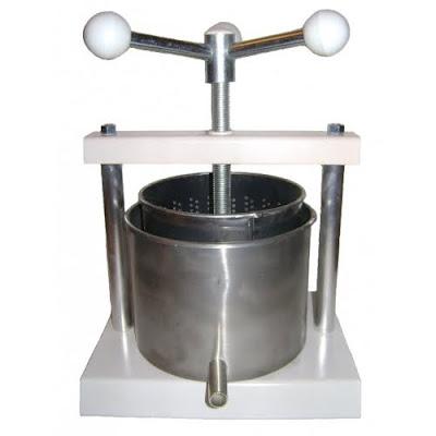 torchio per frutta in acciaio