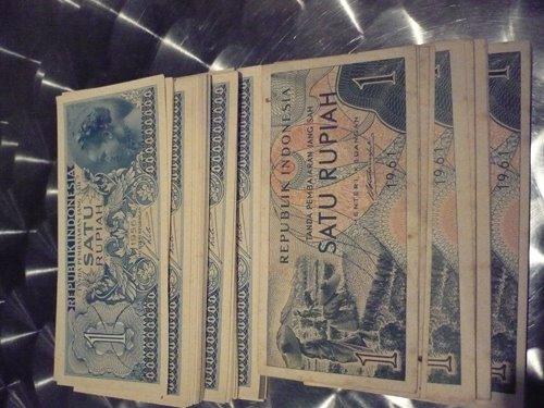 seri 1 rupiah tahun 1961 dan 1956