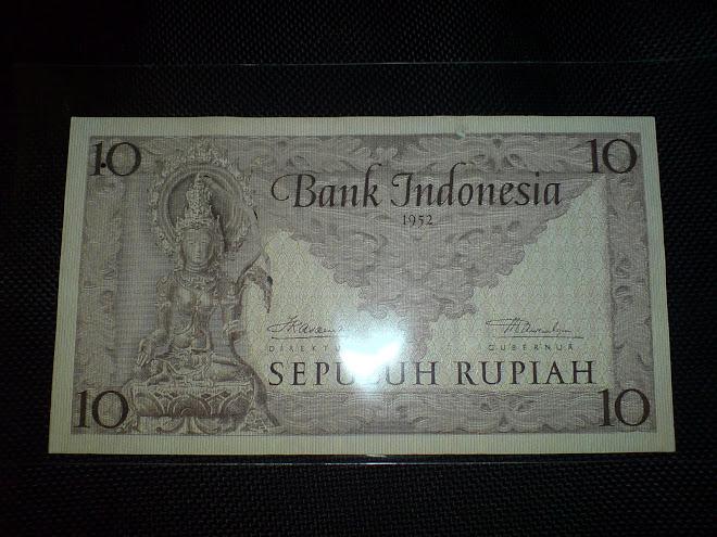 seri 10 rupiah tahun 1952