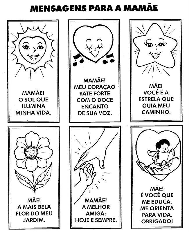 Amor Pela Educação Cartões E Mensagens Para O Dia Das Mães
