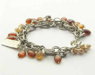hessonite garnet and sterling silver