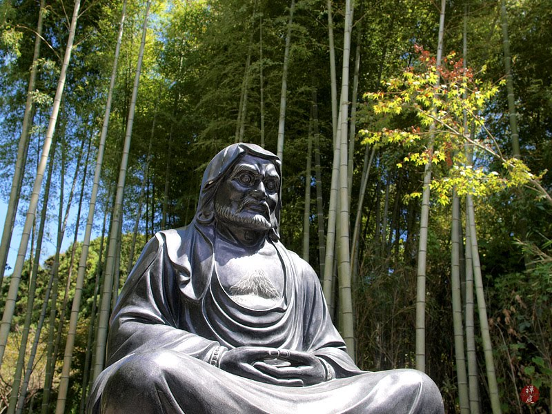 from the garden of zen a bodhidharma statue in kencho ji. Black Bedroom Furniture Sets. Home Design Ideas