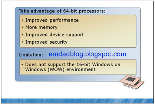 advantages of using windows 7 of windows 64 bit editions
