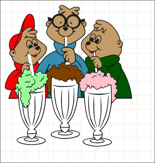 Chipmunks with Ice Cream SVG