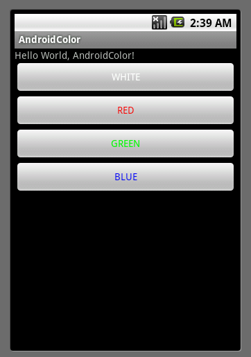 how to set background color in android xml