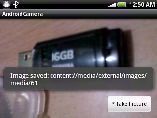 Save the camera image using MediaStore