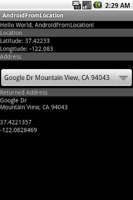 Get location(Latitude and Longitude) from described address using Geocoder
