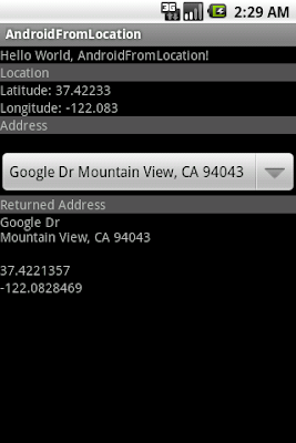 Get location(Latitude and Longitude) from described address using Geocoder