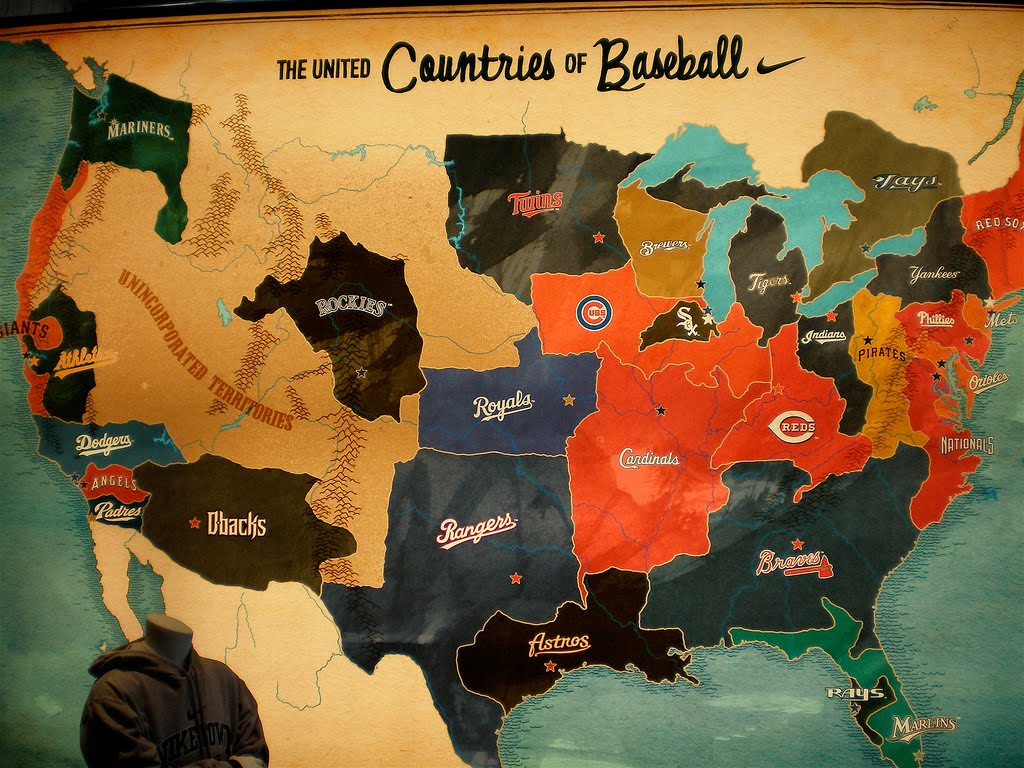 Here Be Dragons Baseball Teams As Countries Within The US - Map of us baseball teams