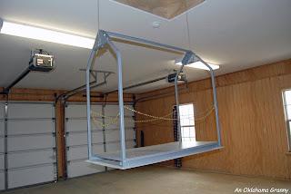 An oklahoma granny new fangled contraption for Garage attic lift elevator