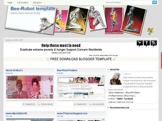 Bee Robot blogspot template