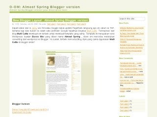 Almost Spring Blogspot Template