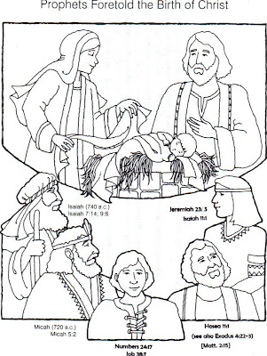 Creative kidstuff 12 days of christmas day 1 the prophets for Prophet isaiah coloring page