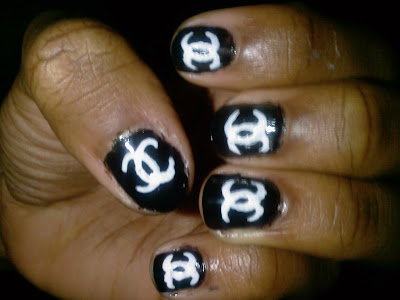 Chanel Nail Tips http://babyciaz.blogspot.com/2009/07/chanel-nail-design.html