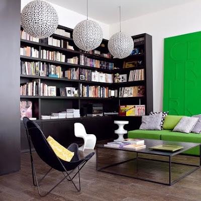 modern bookcase shelves Marie Claire Maison