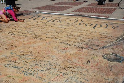 We the People - the Constitution Scroll in Civic Center Park