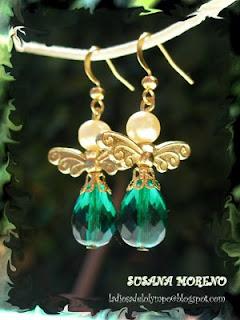 pendientes angeles verdes