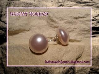 pendientes medias perlas swarovski 14mm