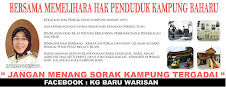 Bersama Mempertahankan Hak Penduduk Kampung Baru