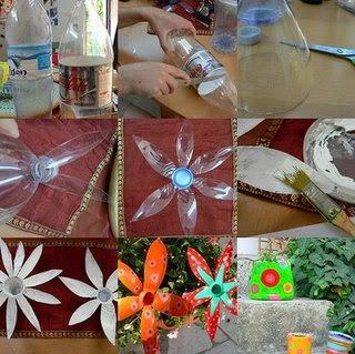 Ideias com garrafas de plástico