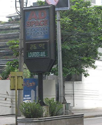 Ortigas Center street thermometer