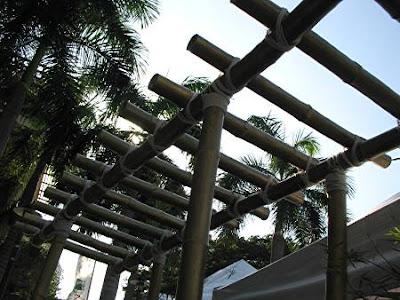 Greenbelt garden path bamboo trellis