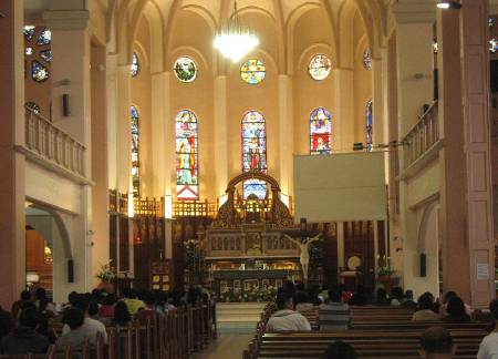 interior of the Baguio Cathedral