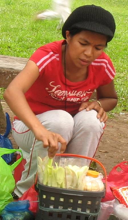 burong mangga vendor in Burnham Park in Baguio City