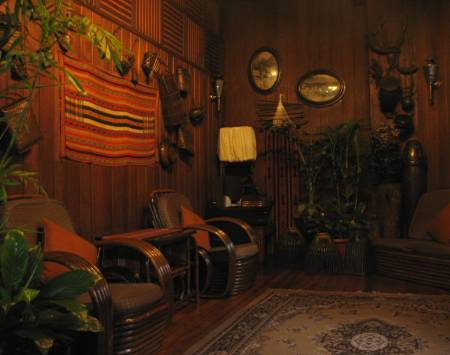 living room of the Burnham Hotel in Baguio City