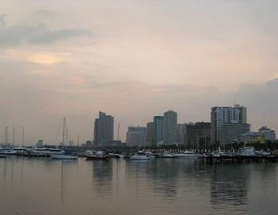 Malate, Manila skyline