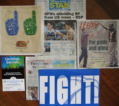 Blue Eagles vs. Green Archers in printed media