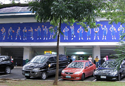 Blue Eagles poster at the Blue Eagle Gym