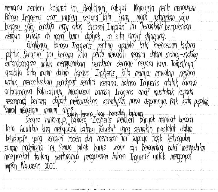 contoh essay bi pmr