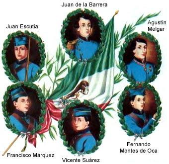 los niños héroes nombre genérico con el que se designa a los seis ...