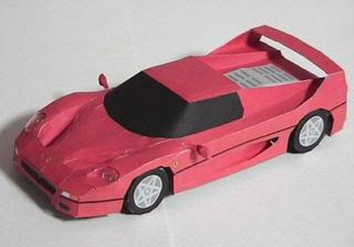 ferrari card papercraft