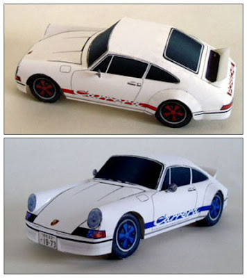 Paper Car Porsche 911 Carrera