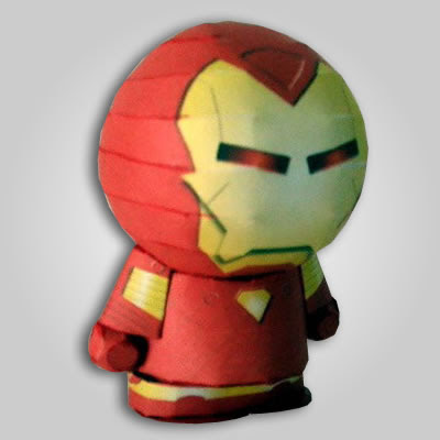 Iron man paper toy