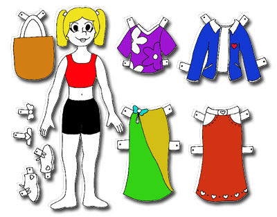 free paper doll template pattern