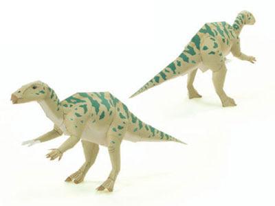 Dinosaur iguanodon papercraft