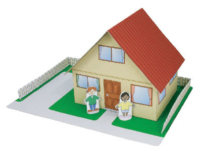 House papercraft for kids